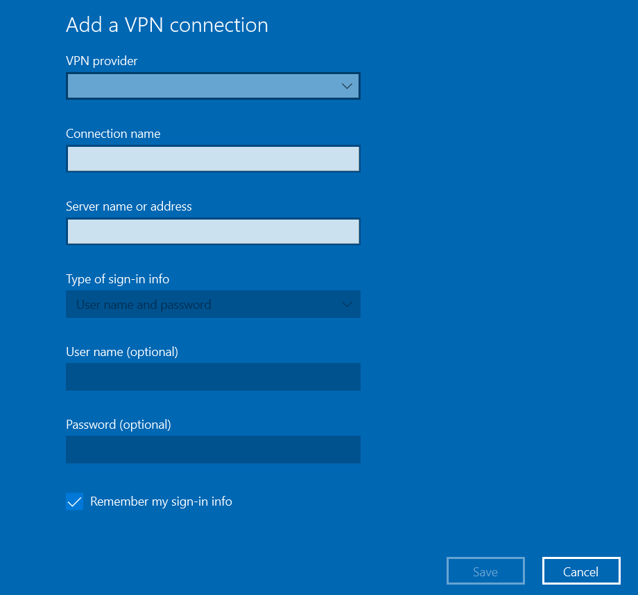 Adding VPN on PC (Windows 7, 8, 10)